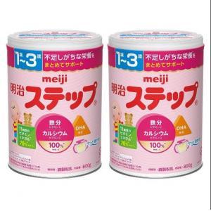 meiji明治1-3岁奶粉罐装800...
