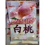 零食;meito白桃果汁糖75g(可...