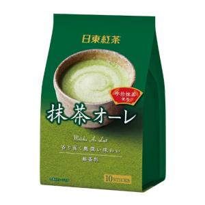 日东红茶系列奶茶10支装 抹茶味<可...