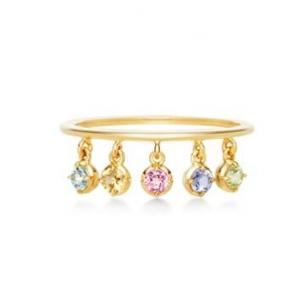 代购:ahkah K18金镶宝石指环...