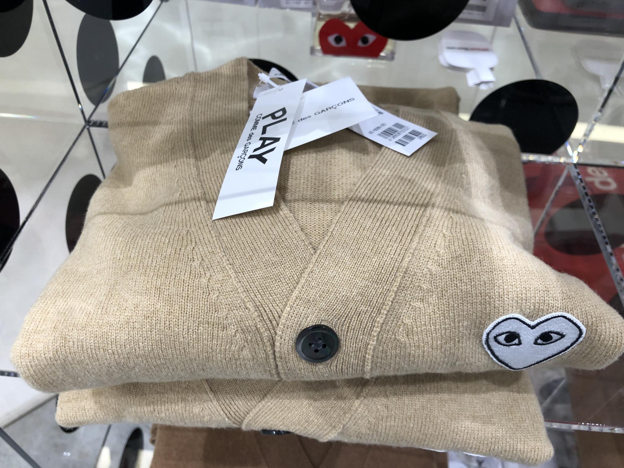 代购:PLAY川久保玲纯羊毛针织开衫...